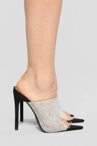 Dream Big Heeled Sandal - Black/Silver