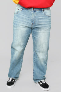 Ross Straight Jeans - Light Blue Wash