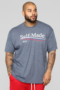 Presidential Short Sleeve Tee - Heather Navy