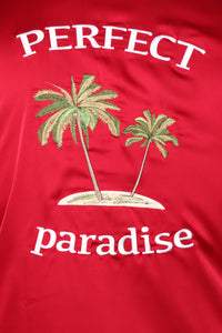 Paradise Bowling Short Sleeve Woven Top - Red Angle 11