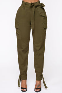 No Ties Love Cargo Pants - Olive