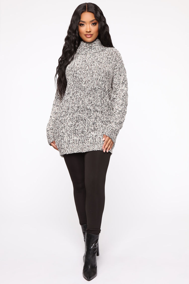 Falling Back To You Sweater - Heather Grey