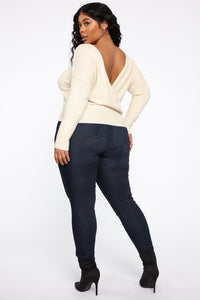 Dealin' With Me Convertible Sweater - Taupe