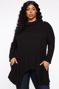 Lost For You Knit Top - Black