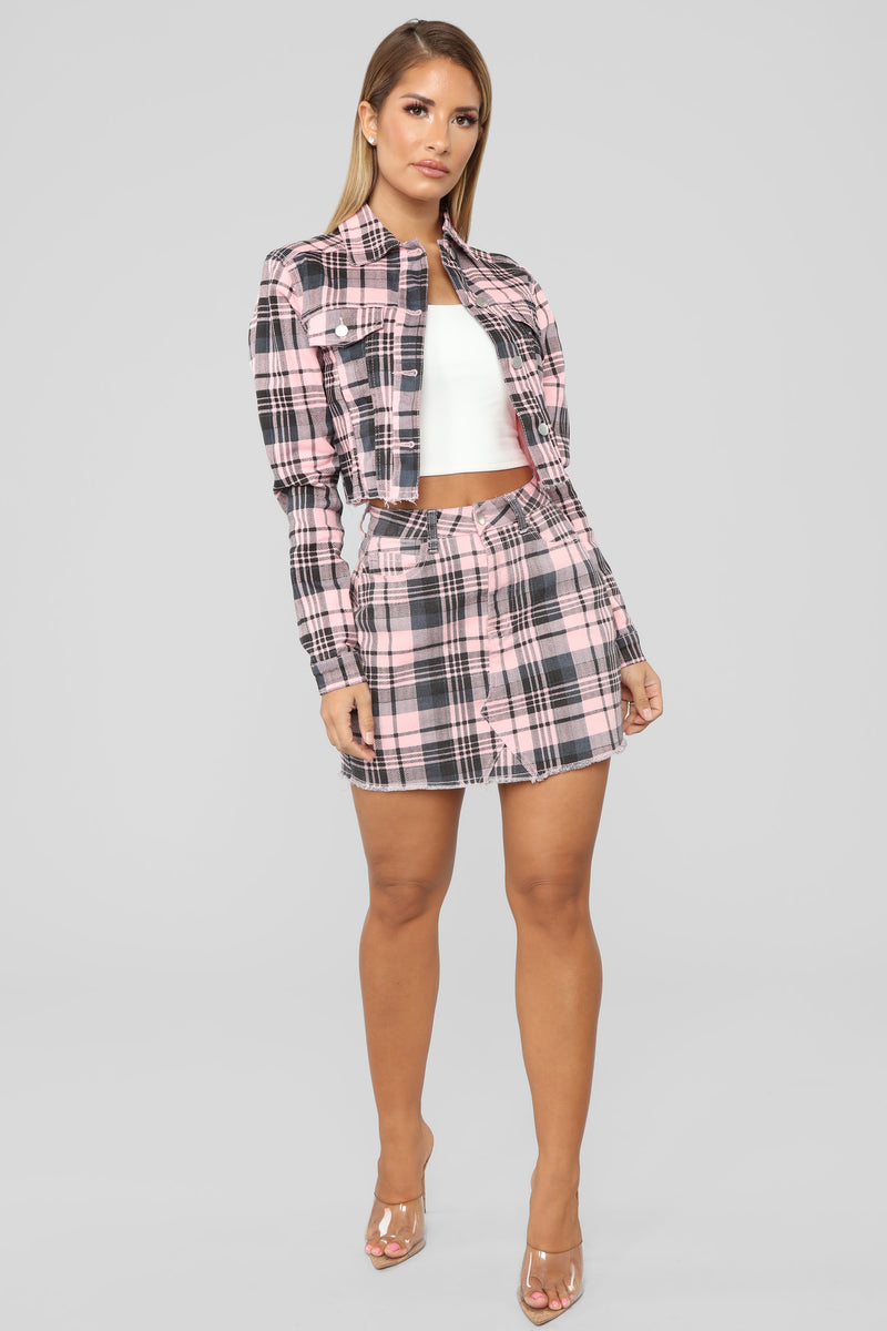 Plaid Gal Jacket - Pink/Combo