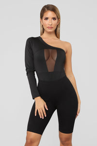 Miss Mesh Bodysuit - Black