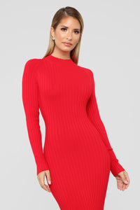 Left My Heart In Rome Mermaid Dress - Red