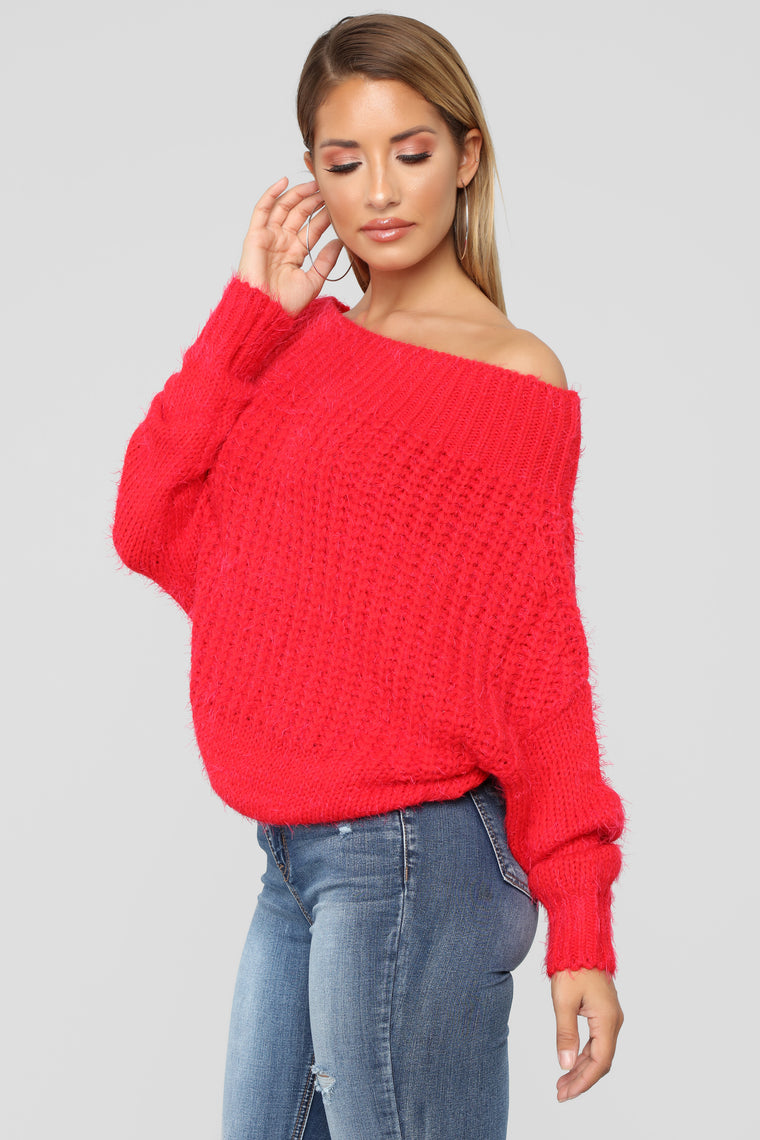 Give Your Heart A Break Sweater - Red