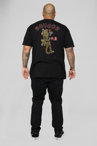 Climbing Tiger Short Sleeve Tee - Black