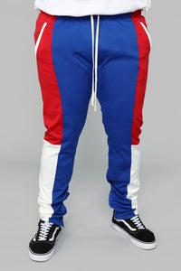 Elevated Track Pants - Blue/combo Angle 7