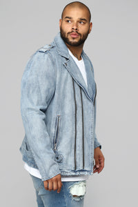 Motto Denim Jacket - Denim