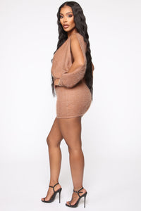 Best All Around Sweater Mini Dress - Mocha Angle 3