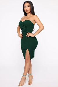 You're My Kind Midi Dress - Emerald