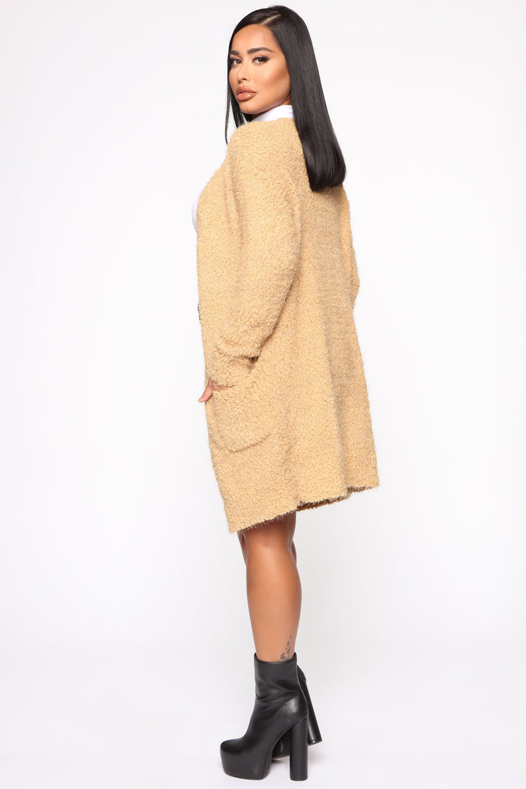 Never A Dull Moment Cardigan - Camel