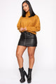 Snuggle Me Turtleneck Sweater - Mustard