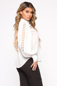Sweet But Sour Woven Top - Off White