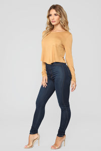 Do It Your Way Long Sleeve Top - Honey Mustard