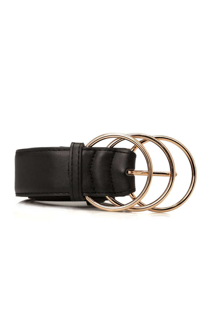 Ring Up My Phone Belt - Black/Gold