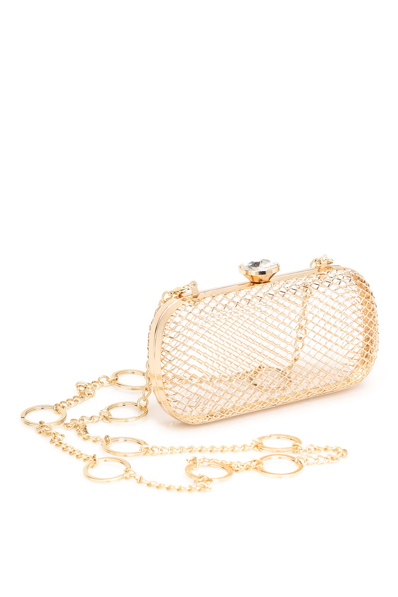 """Stuck In A Cage"" Crossbody - Gold"