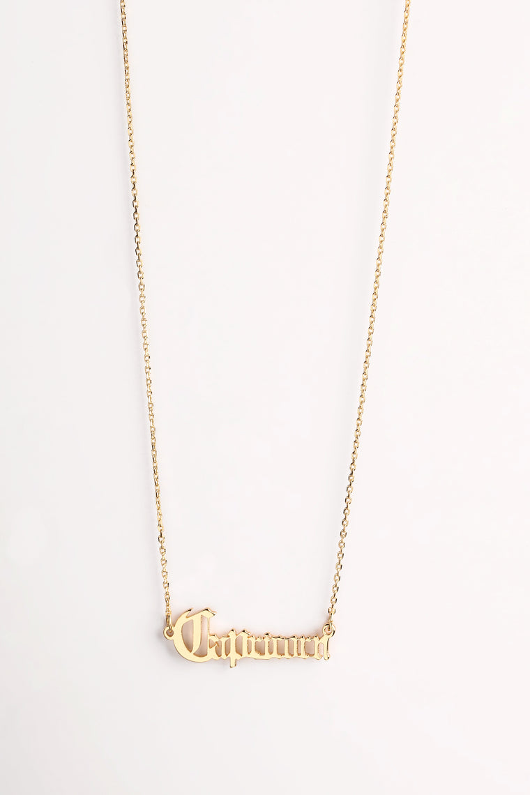 It's Like That 'Capricorn' Pendant - Gold