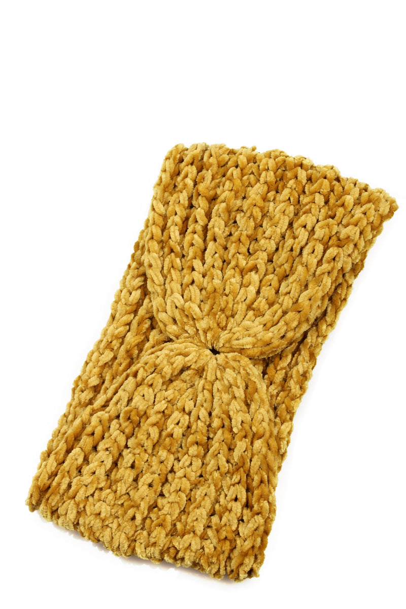 Change The Chenille Headband - Mustard