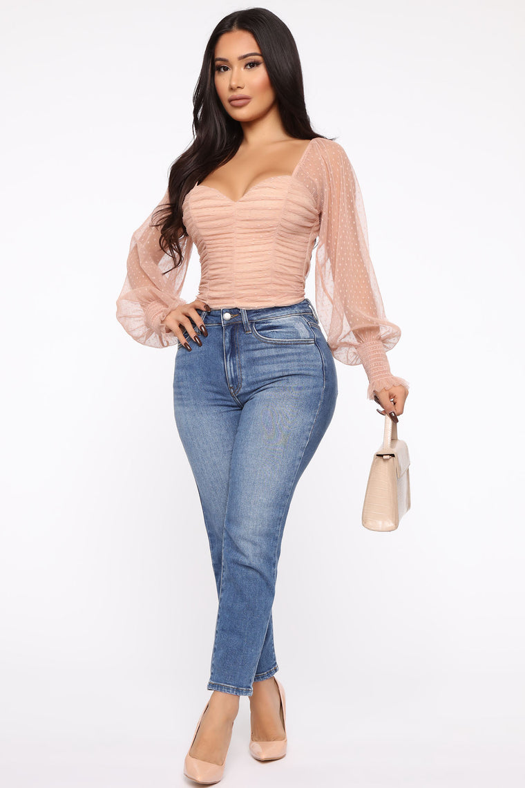Keeping It Cute Top - Nude