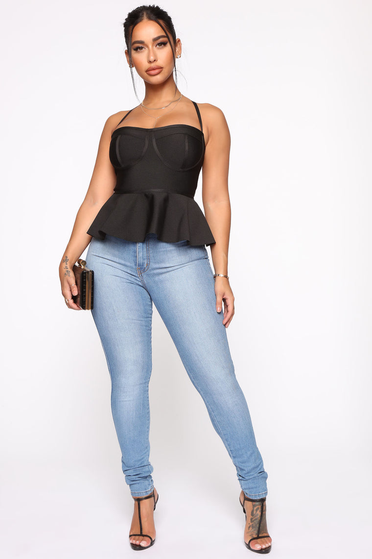 Not Like Other Girls Bandage Top - Black