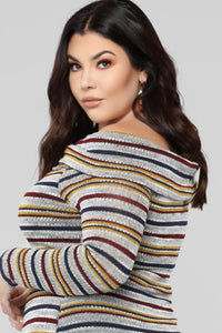 Hugs All Around Multi Stripe Dress - Multi