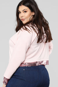 Touch Of Sparkle Sweatshirt - Pink Angle 8