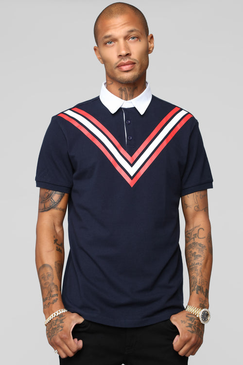 Champ Short Sleeve Polo - Navy/combo