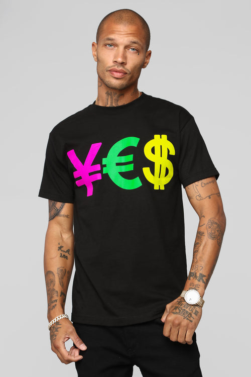 Currency Exchange Short Sleeve Tee - Black