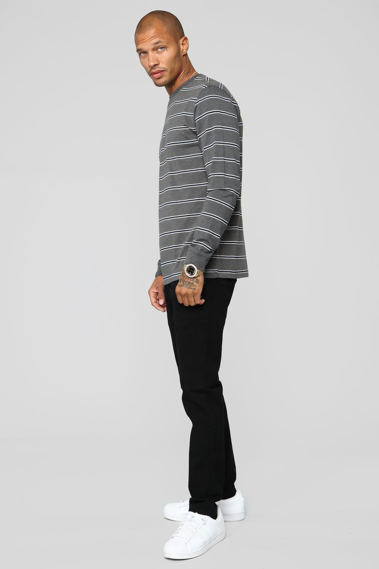 Avery Long Sleeve Tee - Charcoal
