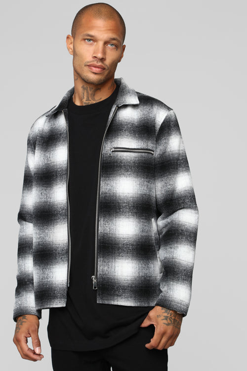 Jamie Casual Jacket - Black/White