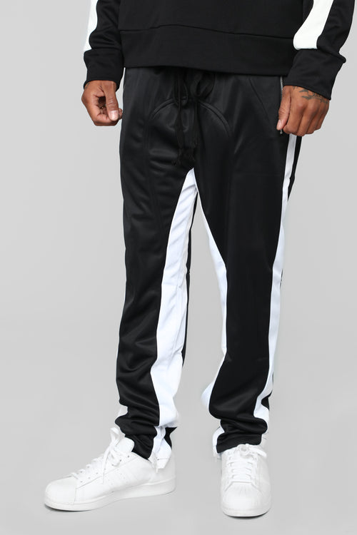 Power Track Pants - Black/White