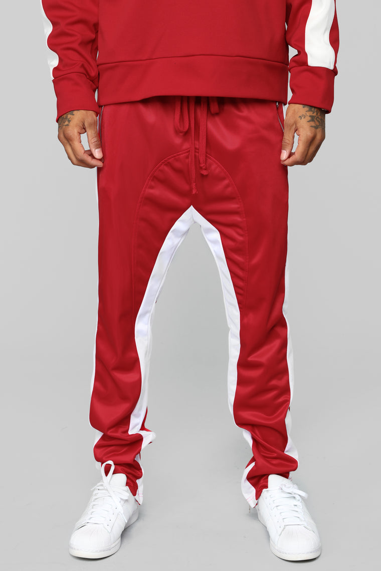 Power Track Pants - Red/White