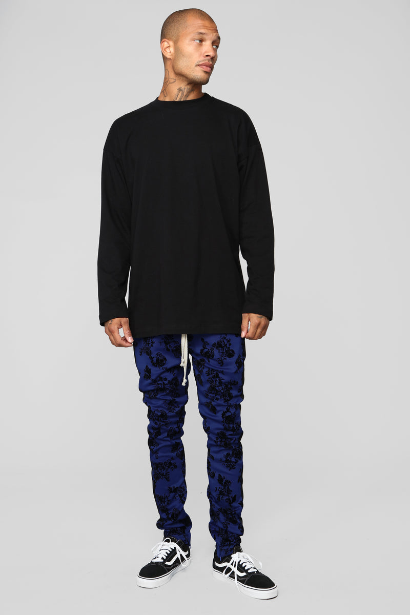 Petal To The Metal Track Pants - Blue