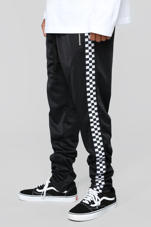 Victory Lane Track Pants - Black/Combo