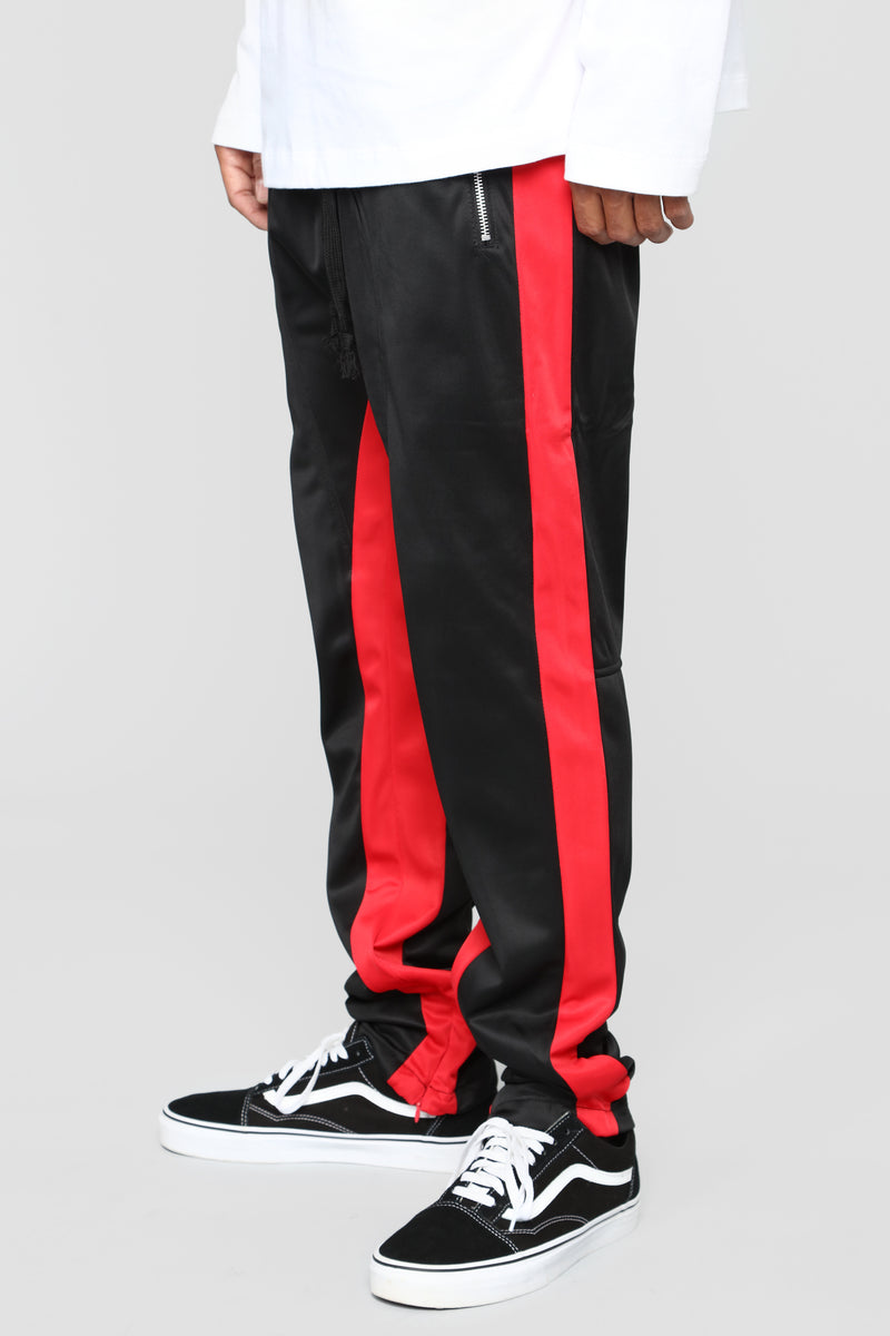 Power Track Pants - Black/Red