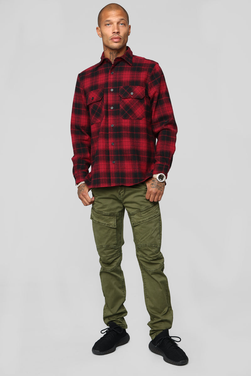 "Omar 32"" Cargo Pants - Olive"