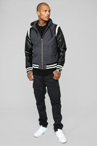 Friday Night Lights Varsity Jacket - Charcoal