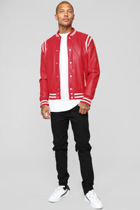 The Rookie Varsity Jacket - Red Angle 2