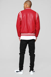 The Rookie Varsity Jacket - Red Angle 5