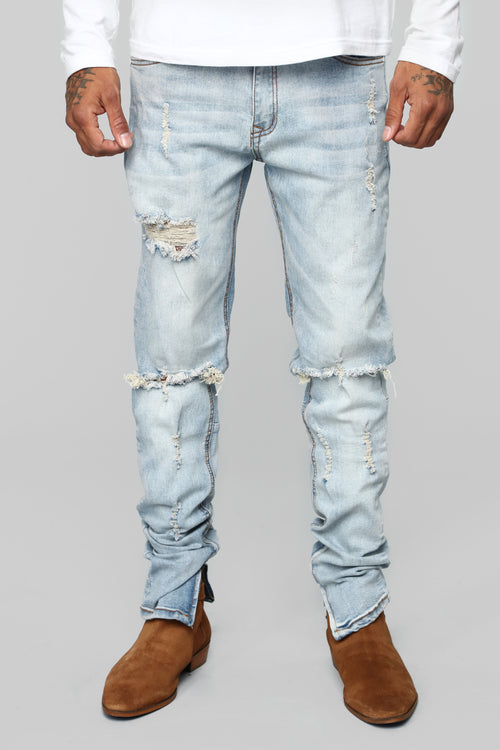 Terren Skinny Jeans - Light Wash