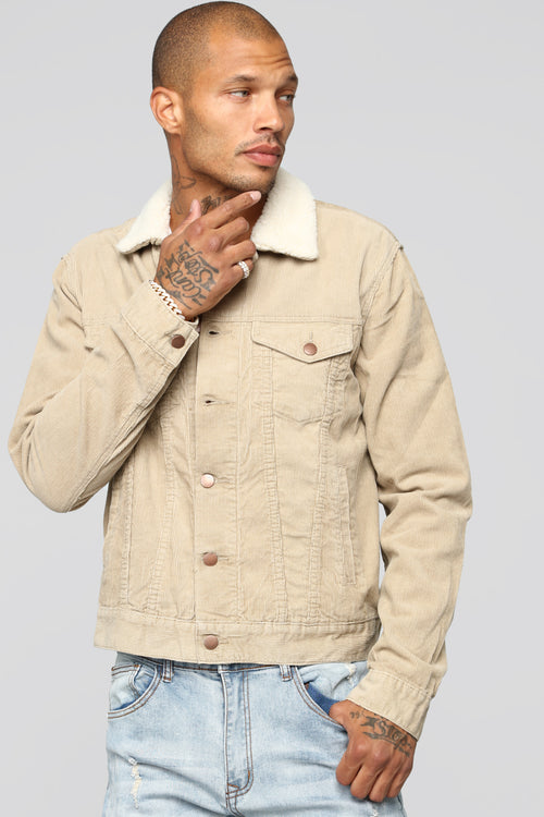 Ronald Sherpa Denim Jacket - Khaki