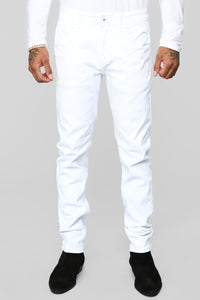 Cam Skinny Twill Pant 32 in - White