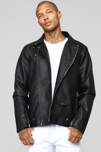 The Grease Moto Jacket - Black