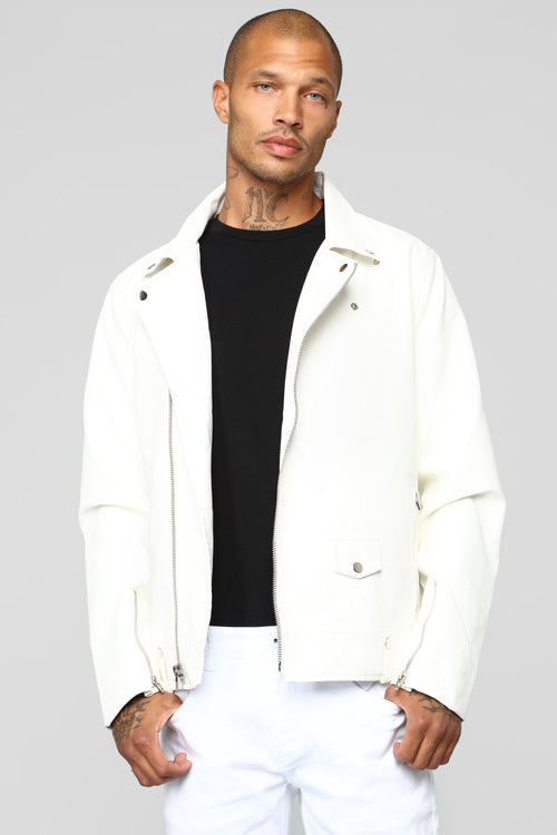 The Grease Moto Jacket - White