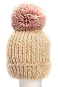 I Do Knit Have Cable Beanie - Beige Angle 4
