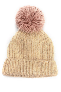 I Do Knit Have Cable Beanie - Beige Angle 2