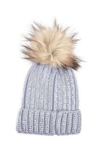 Saved Fur No One Beanie - Light Blue Angle 2